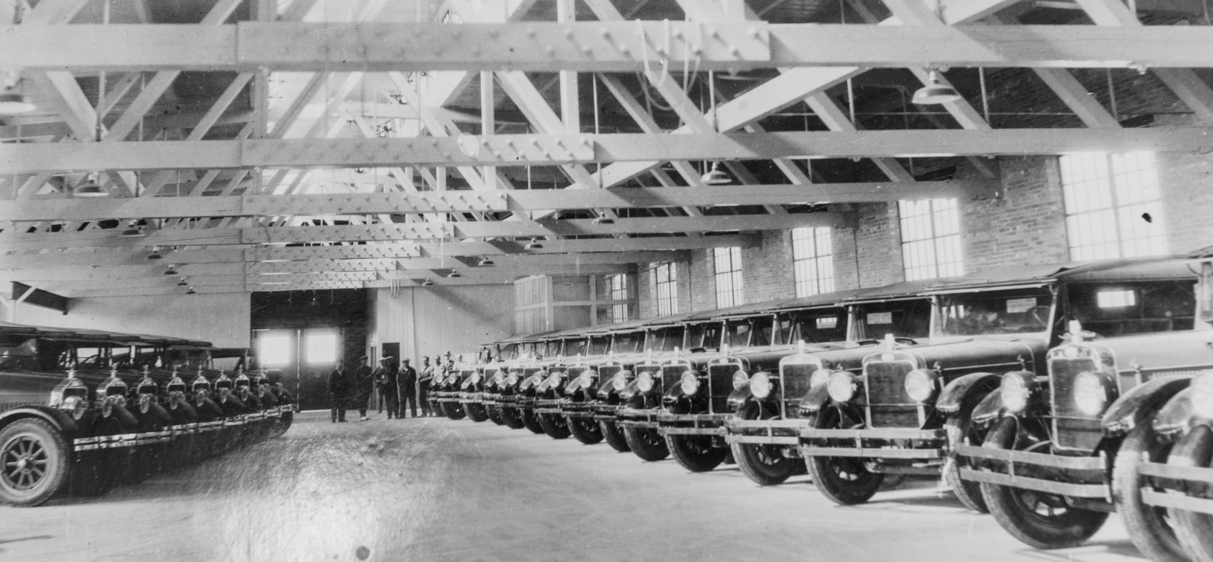 Original Photo of the Union Pacific National Parks Garage around the 1930's