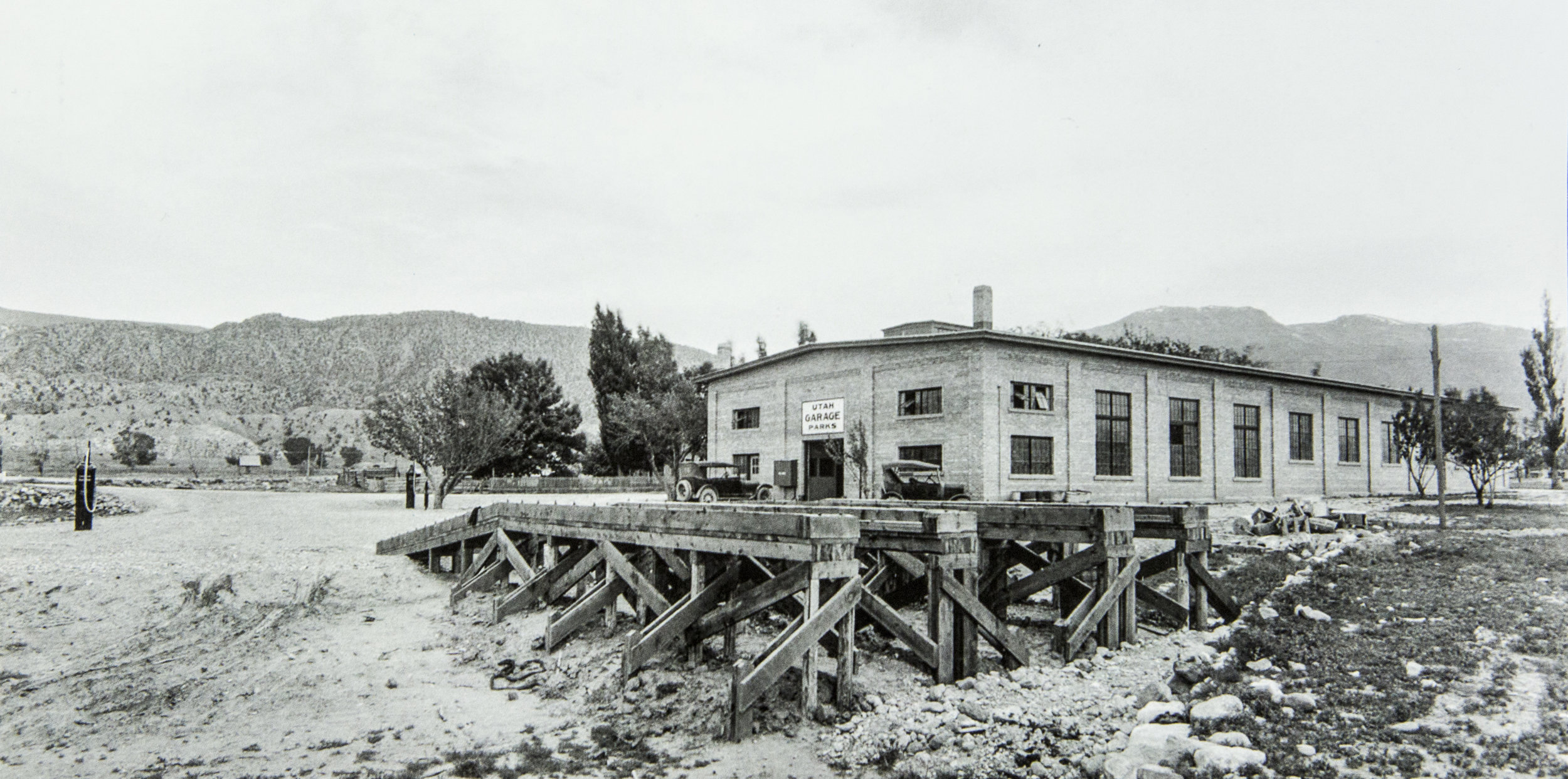 Historical Photo of Union Pacific National Parks Garage, Utah