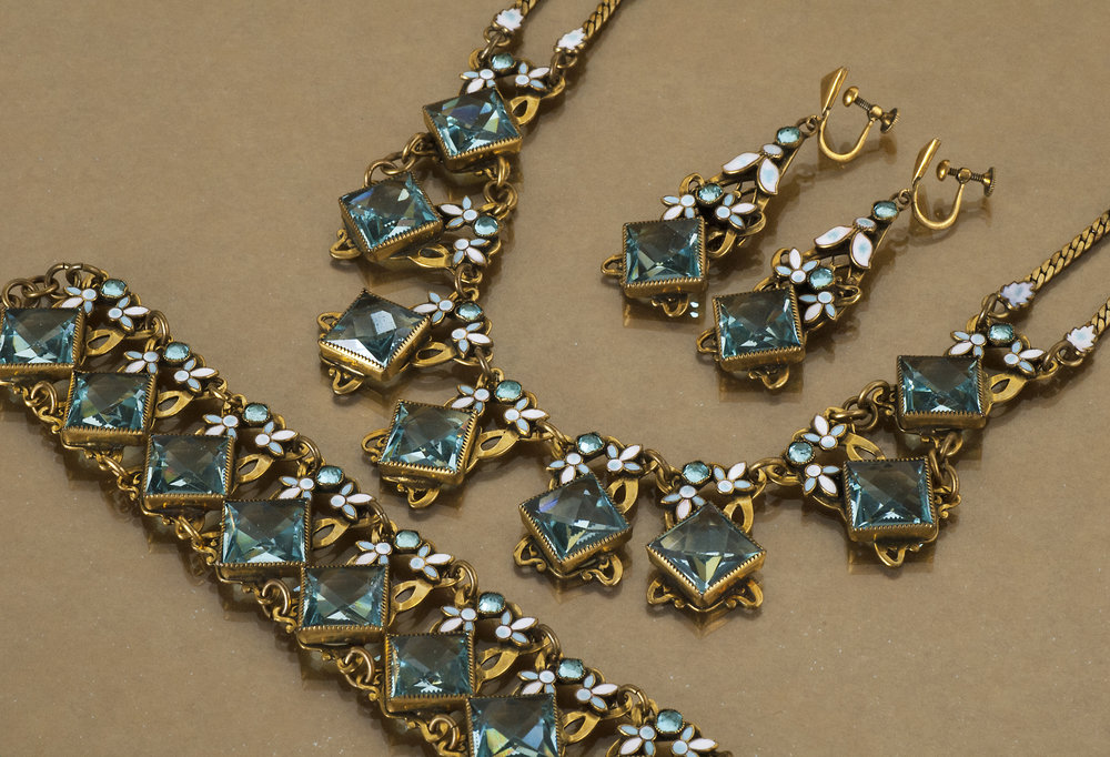 1920's Enamel Costume Jewelry