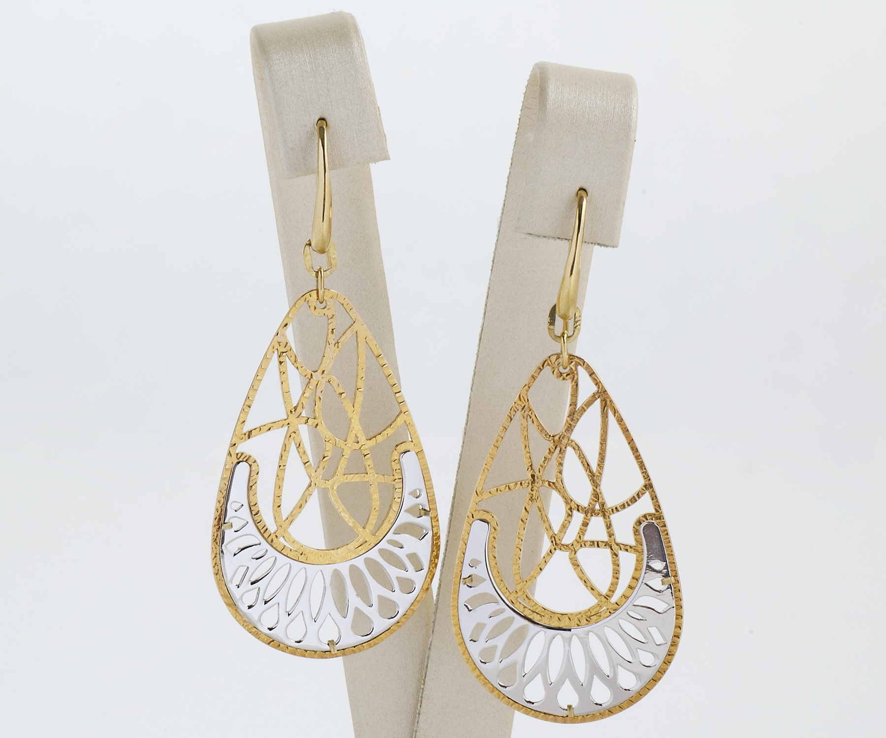 modern net earrings