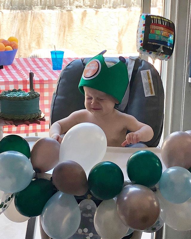 No first birthday party 🎉 is complete without a total meltdown 🤣 Happy birthday to our 6th generation baby jeweler Nash 💎. #coppercanary