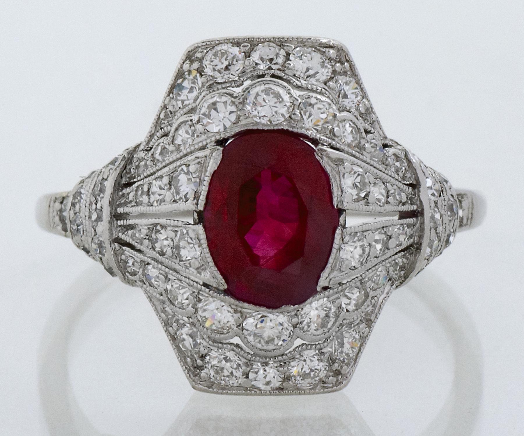 Platinum Burma Ruby