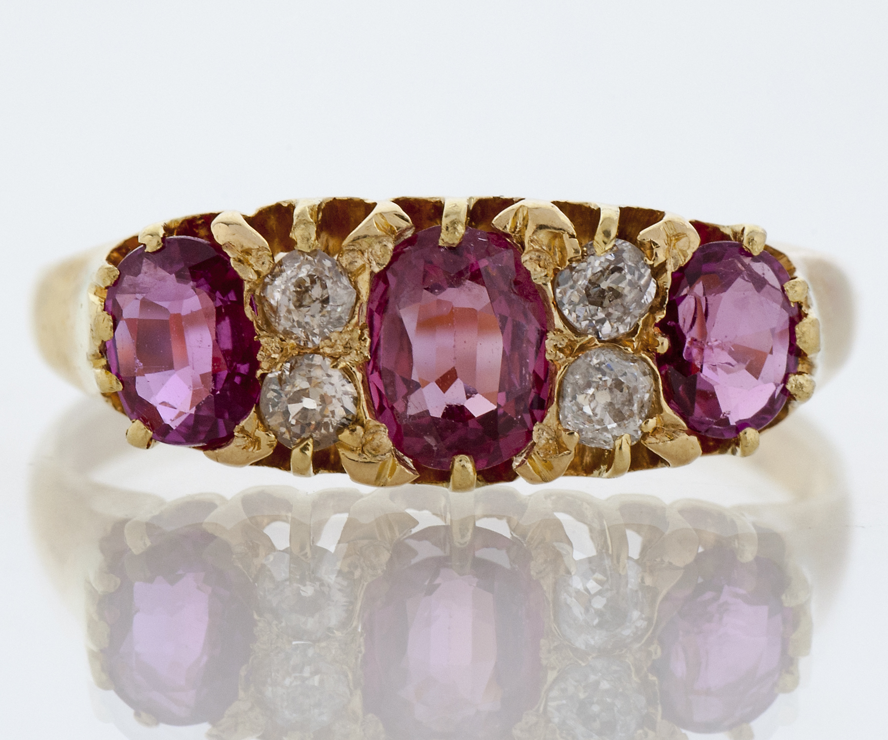Antique Victorian Ruby and Diamond