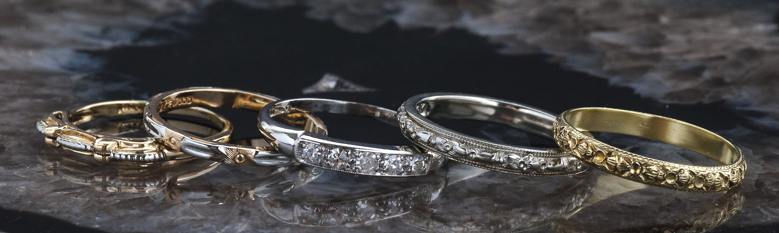 Antique wedding bands -