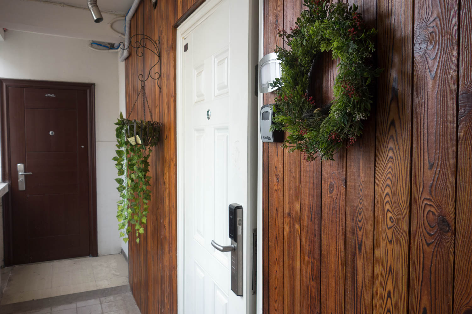 The front door to our Airbnb