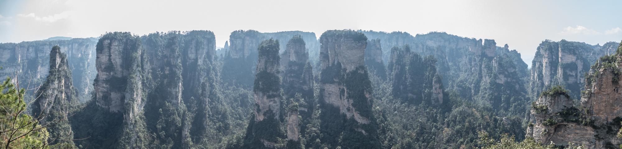 Panorama of pillars