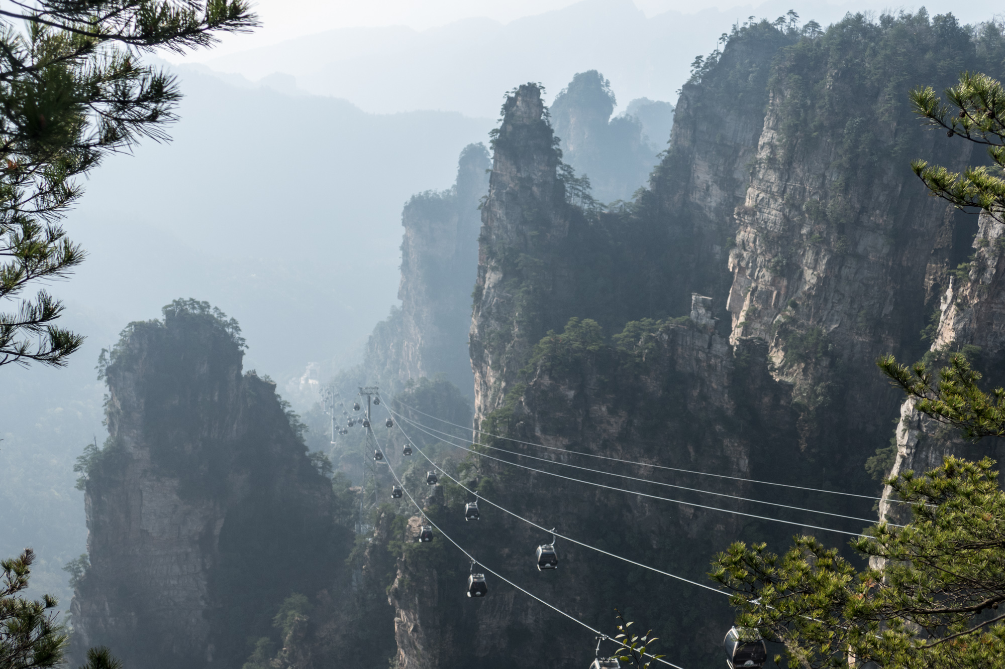 The easy way up the mountain on cable car