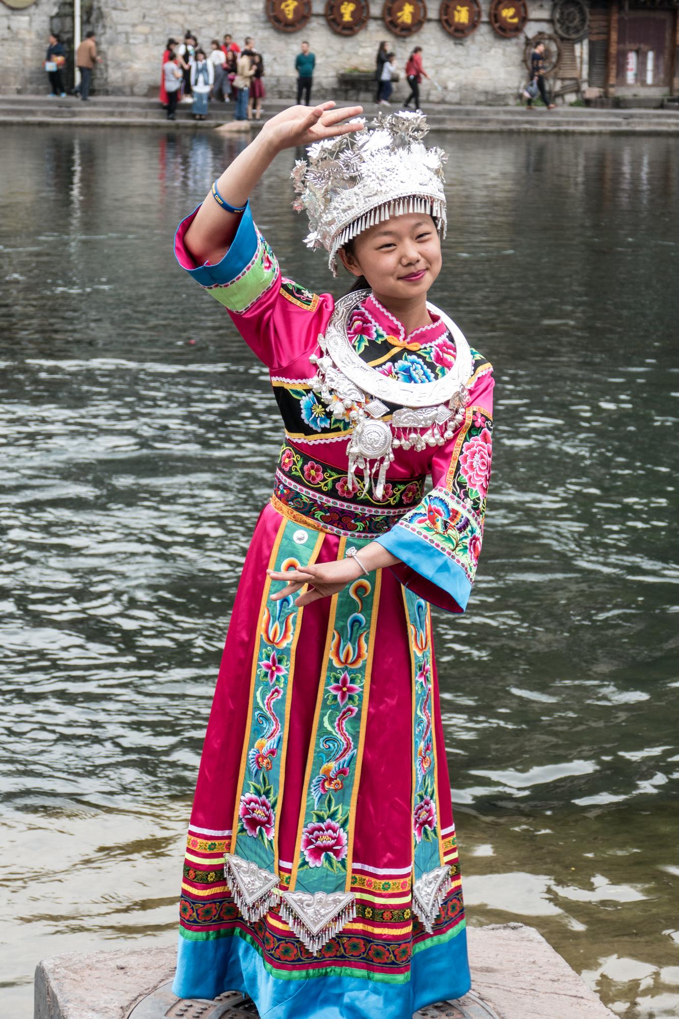 An ethnic minority costume
