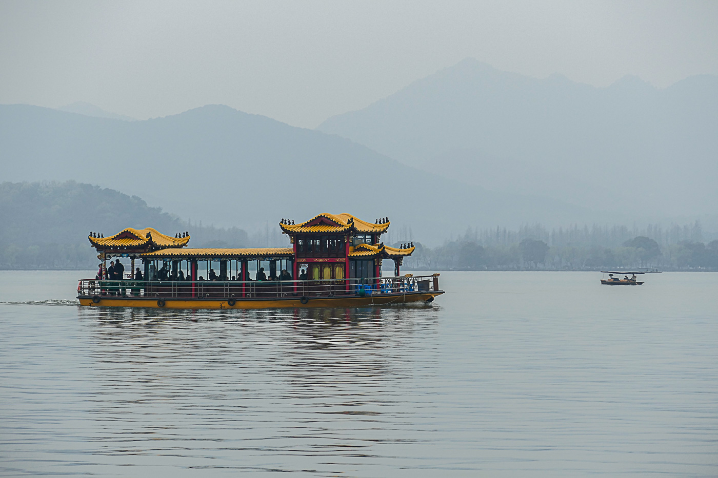 Ornate pagoda boat