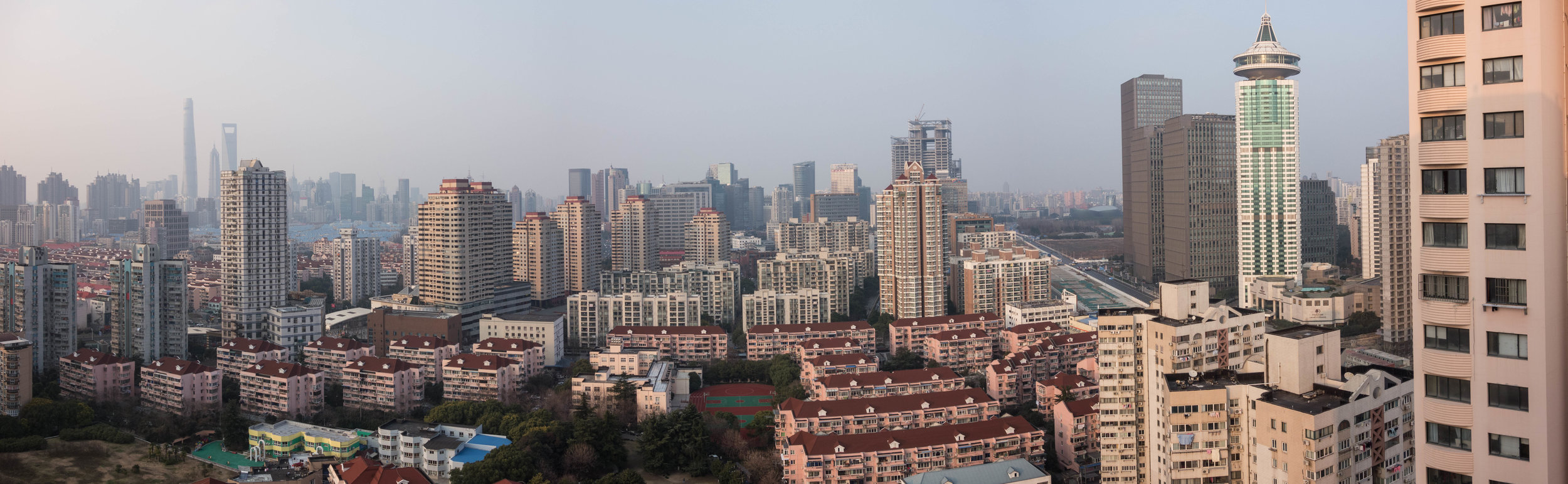 Our first view of Pudong from our temporary hotel.