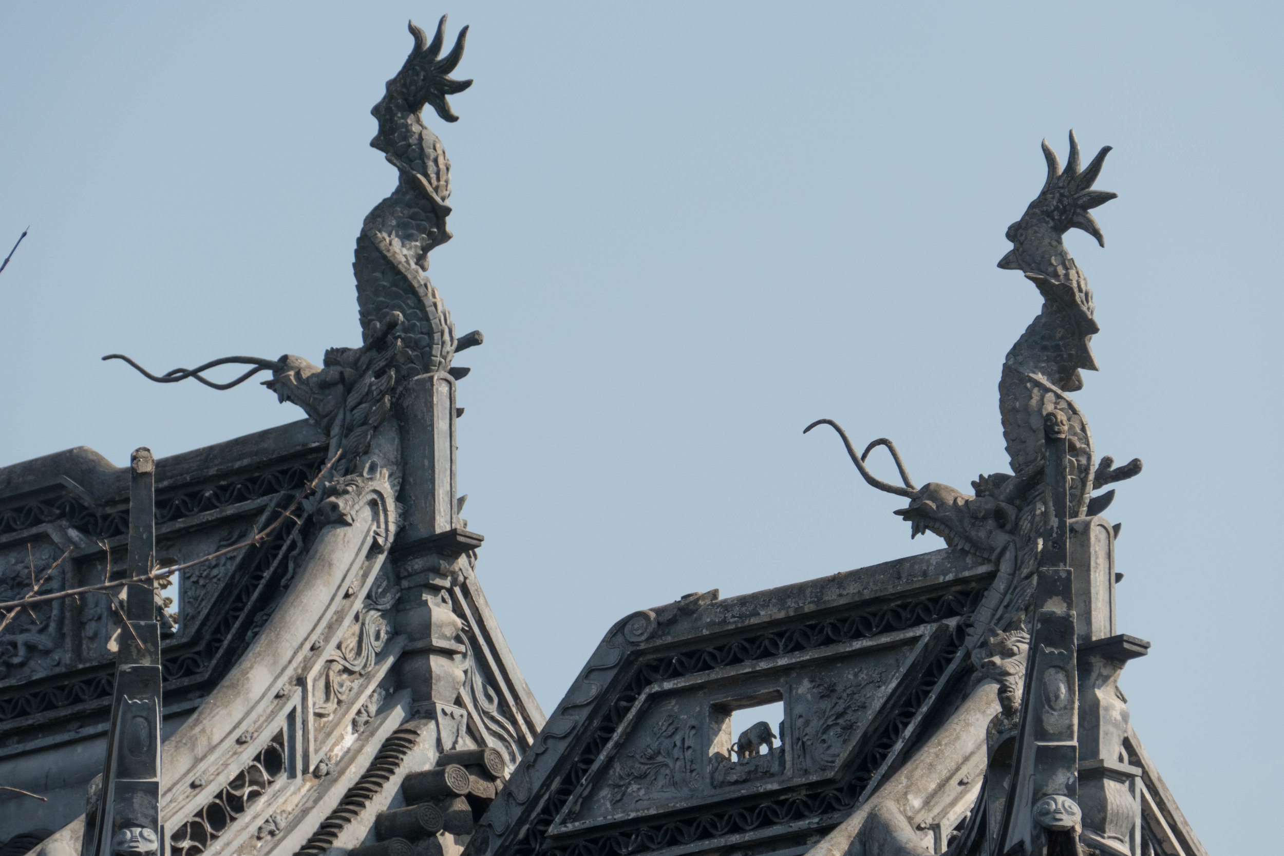 Rooftop gargoyles