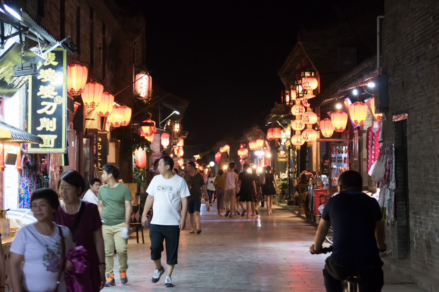 The town is also very active at night