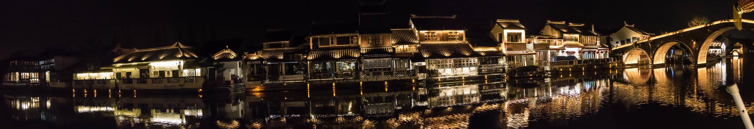Night scene on the river