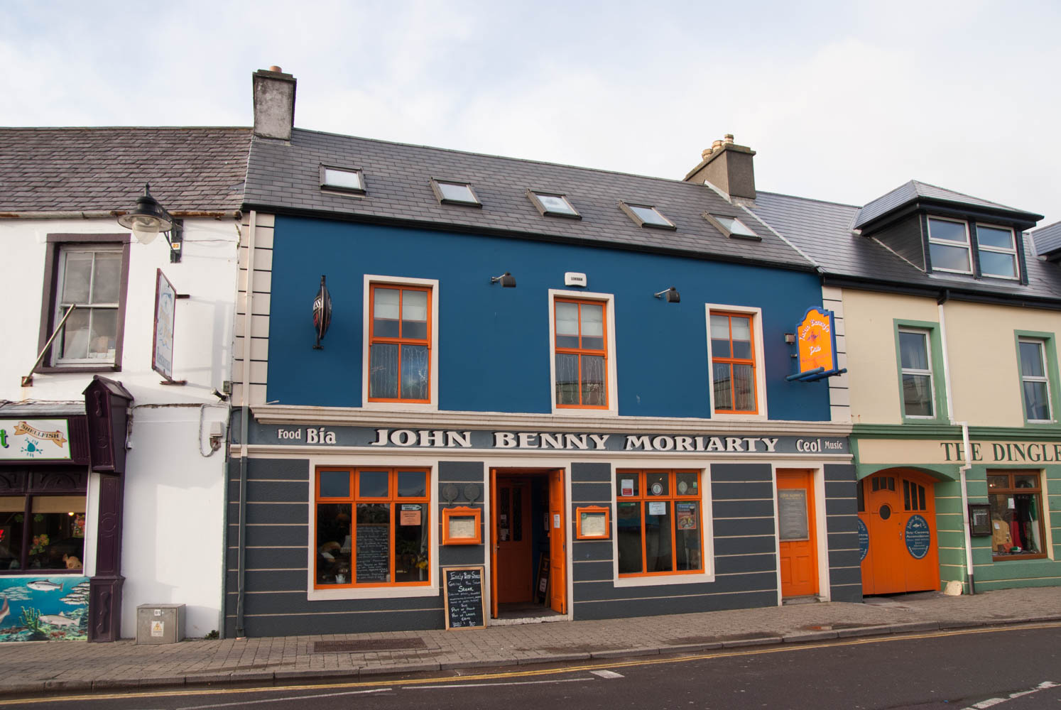 John Moriarity is a famous pub for Irish music.