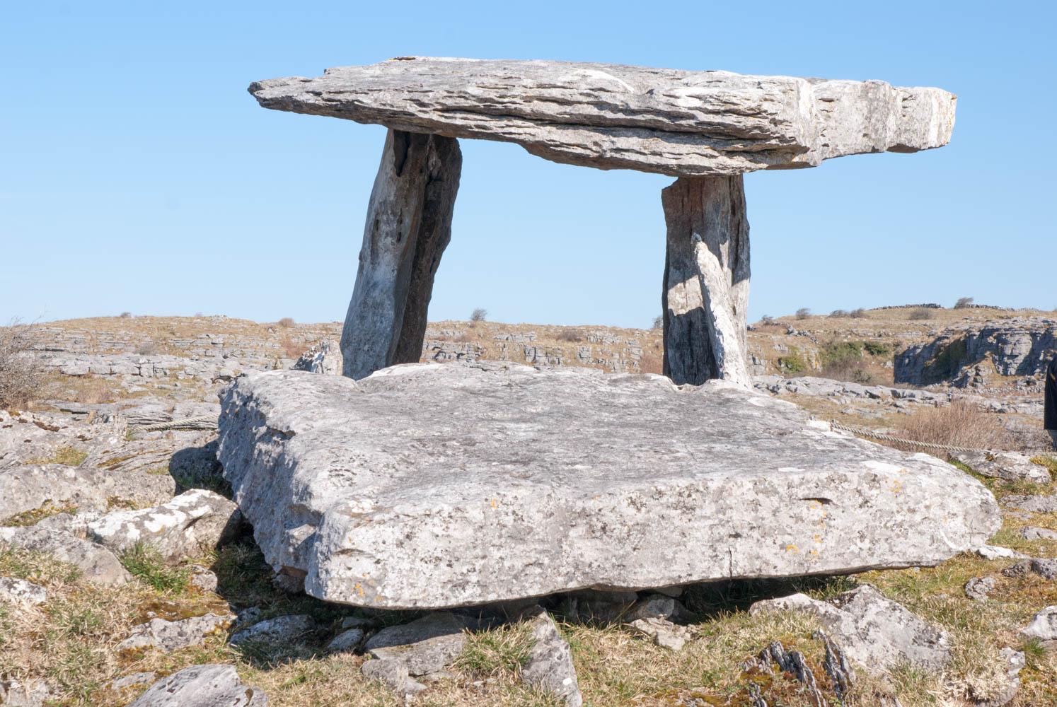 Poulnabrone Dolmen in the Burren, Ireland