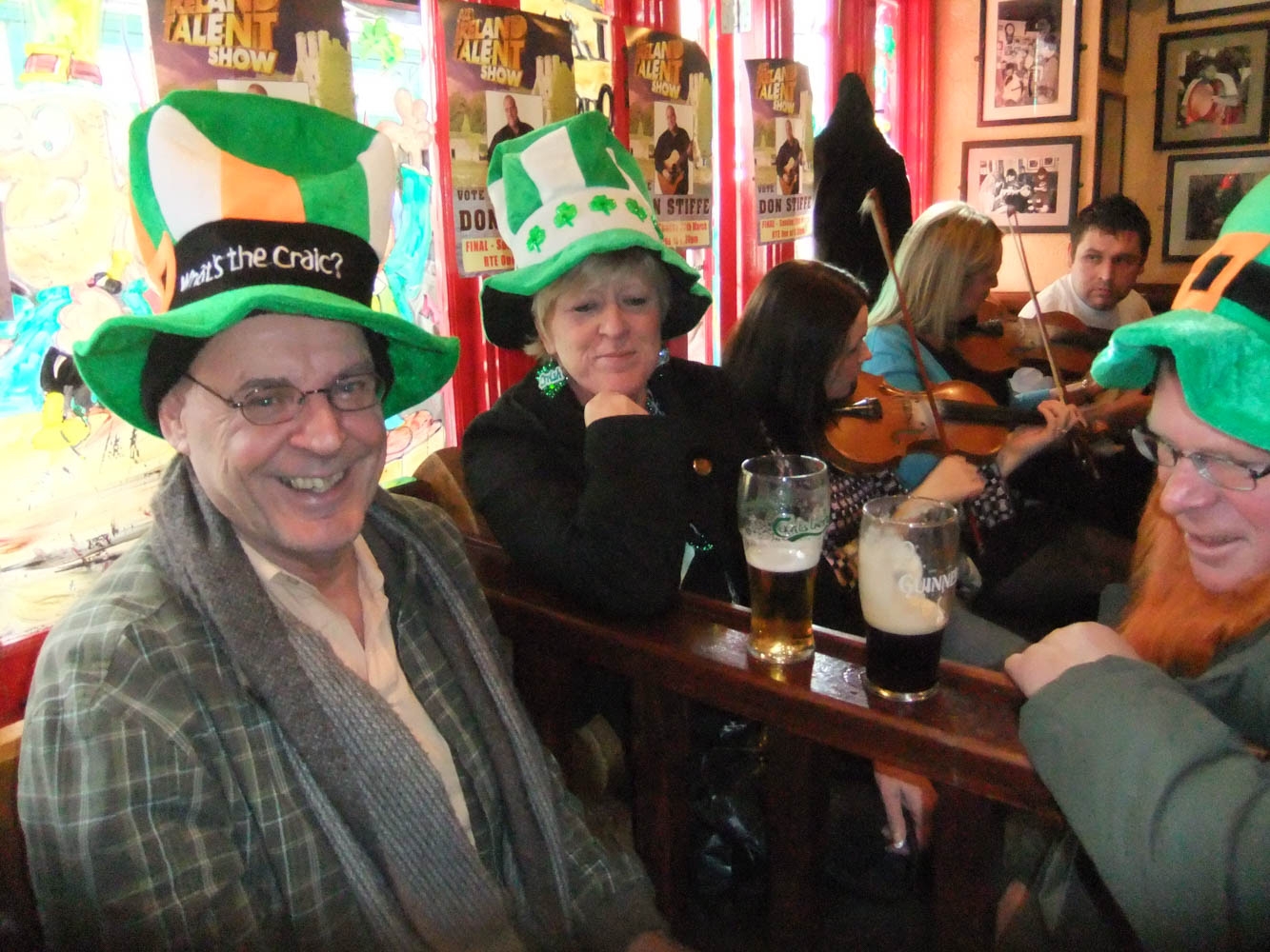In the famous Tig Coili Pub in Galway on St. Patty's Day