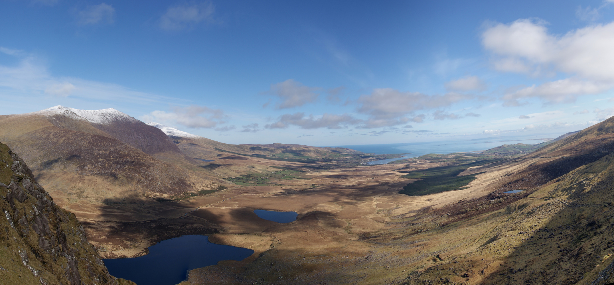 Conor Pass at the entrance to Dingle Peninsula