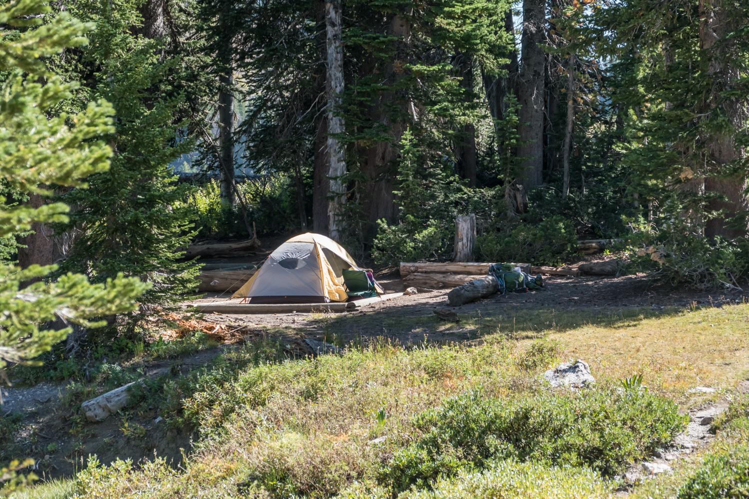 Our camp at Marion Lake