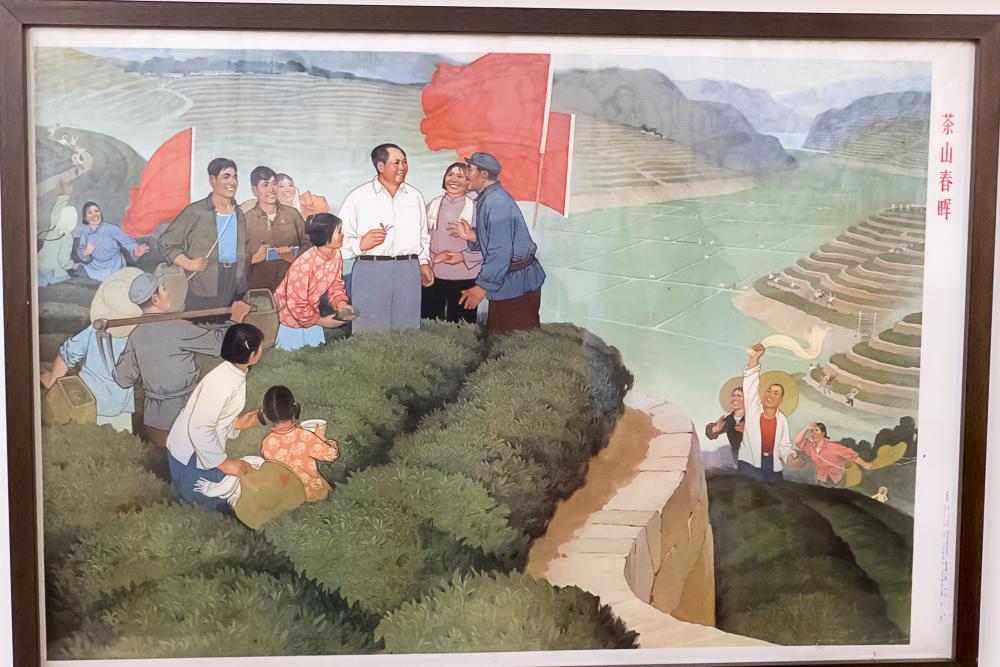 Mao inspiring the peasants