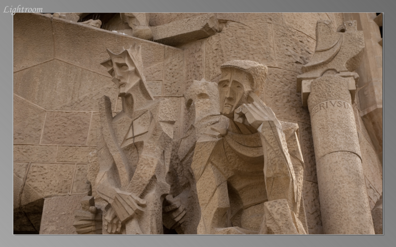 Detail of outer wall of Sagrada Familia
