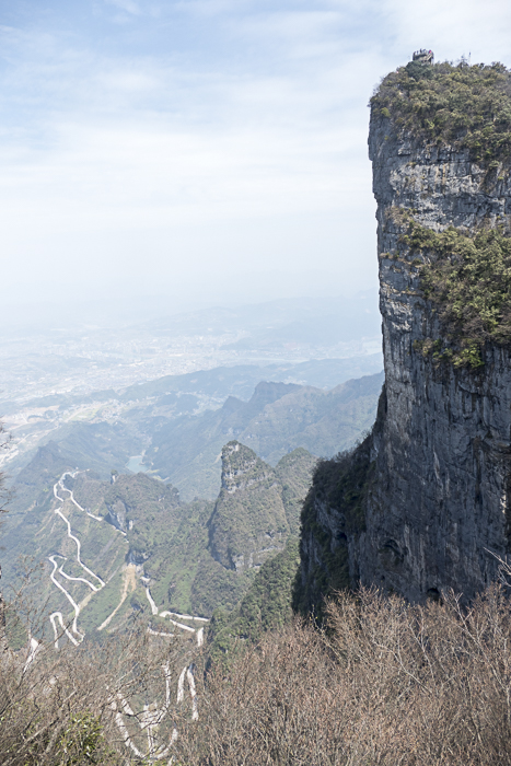 Note the viewing platform at the very top on the right and the 99 hairpin turns highway on the left