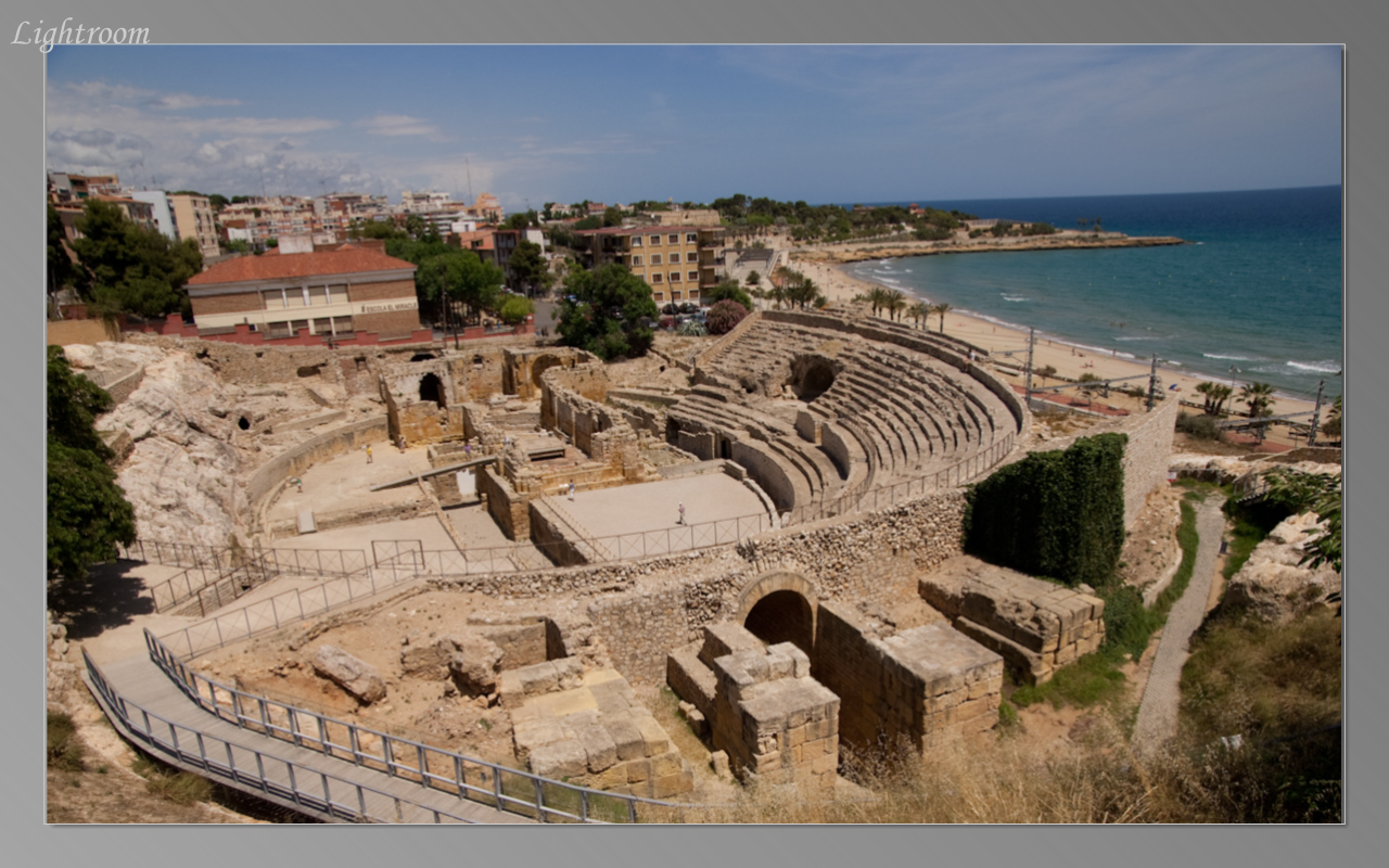 Ruins of ancient Roman amphitheater