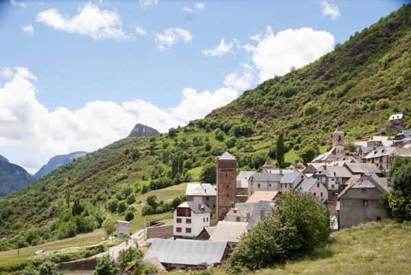 Mountain village in Pyrenees