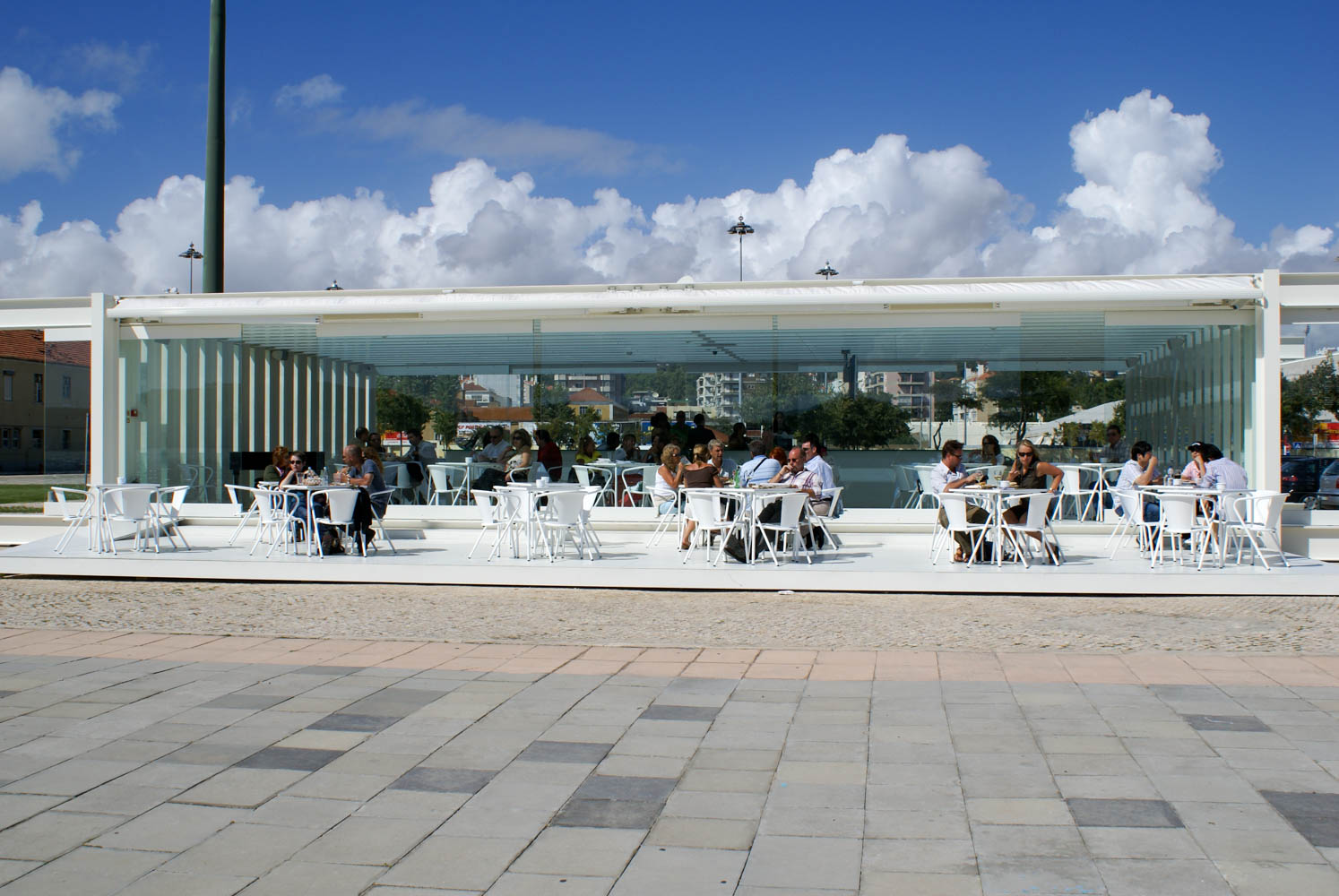Open air restaurant in Belem