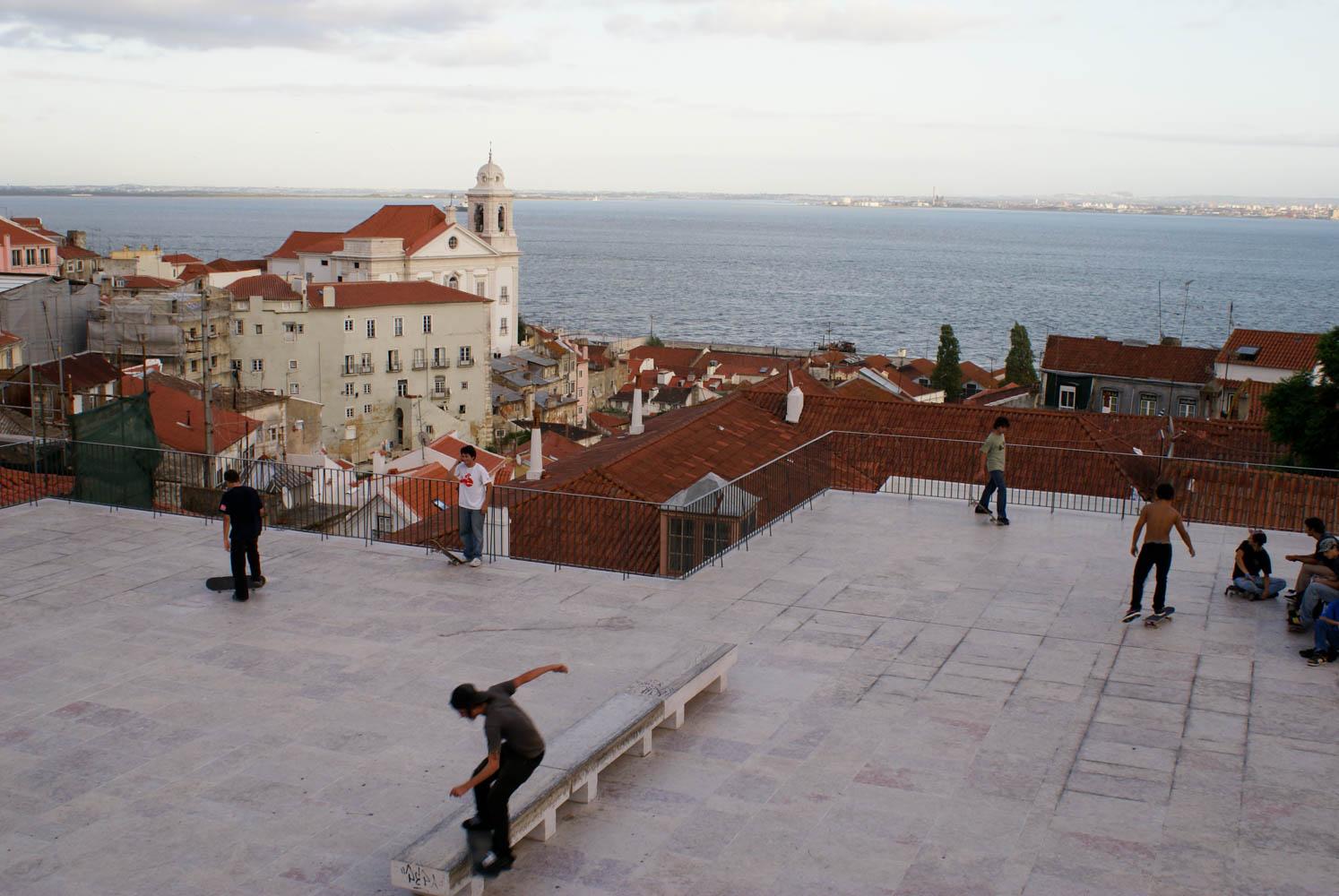 Overlooking the Alfama neigborhood