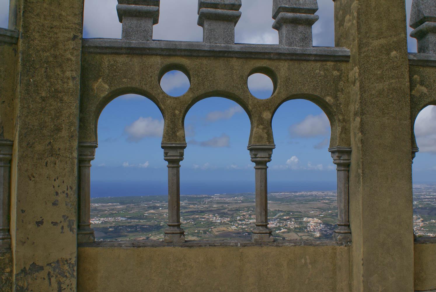 The castle overlooks the Atlantic