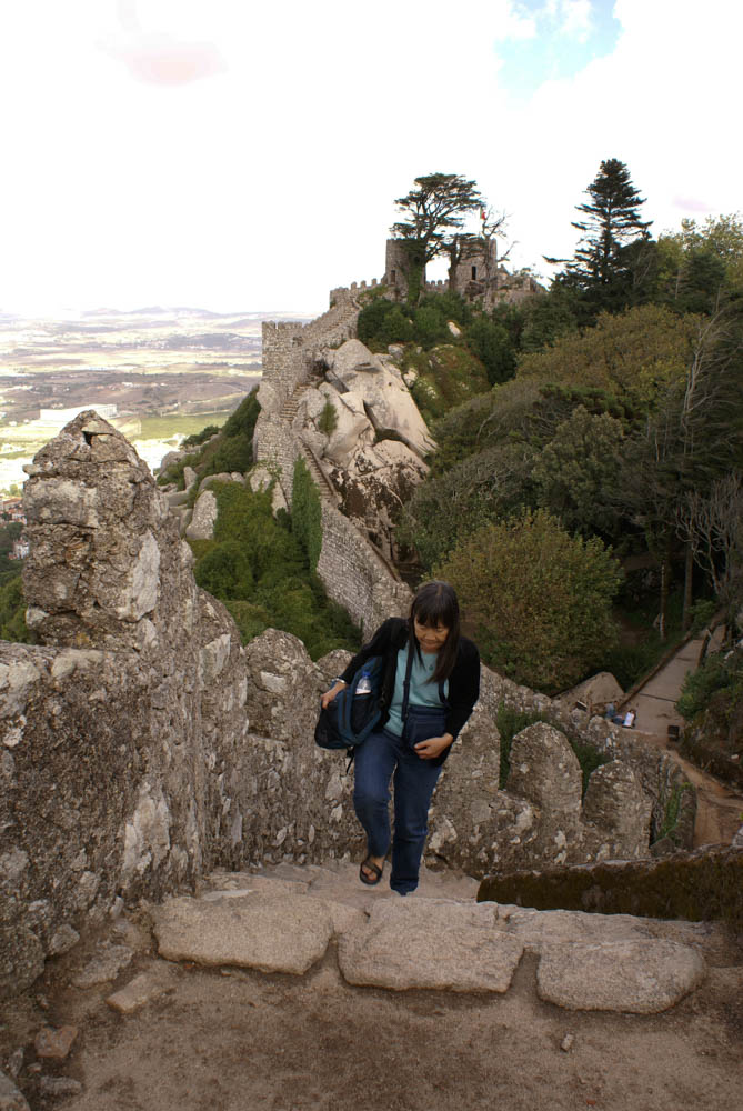 Exploring the ruins of the Castle of the Moors