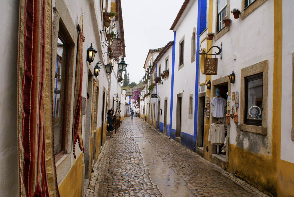 Colorful street in Obidos