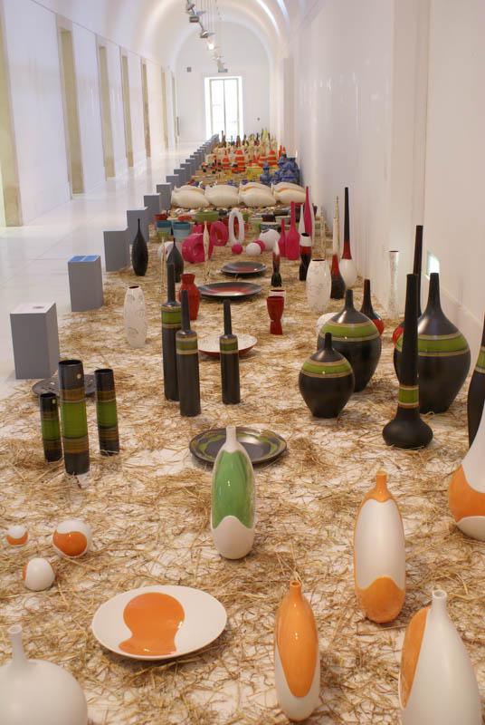 Glassware exhibition in Alcobaca