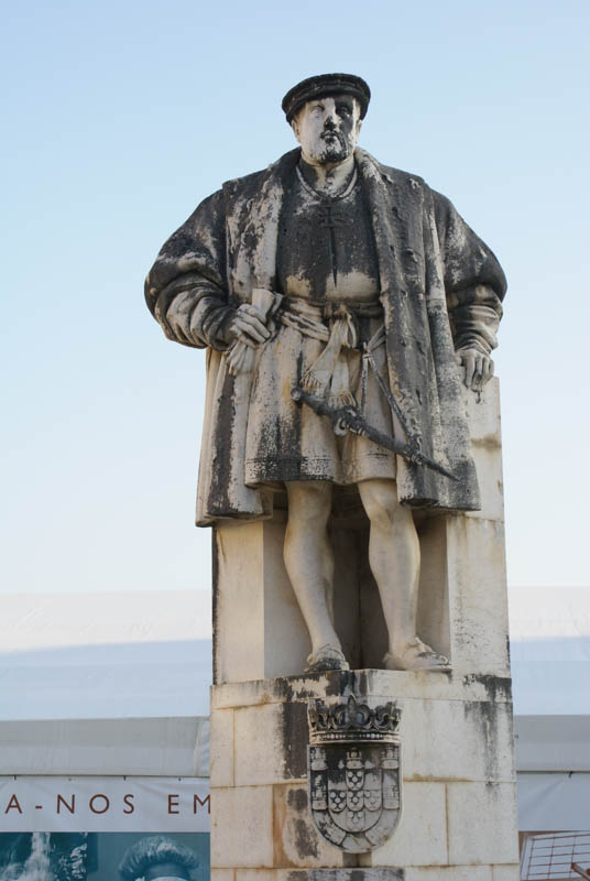 Statue of King João III, who based the university in Coimbra.