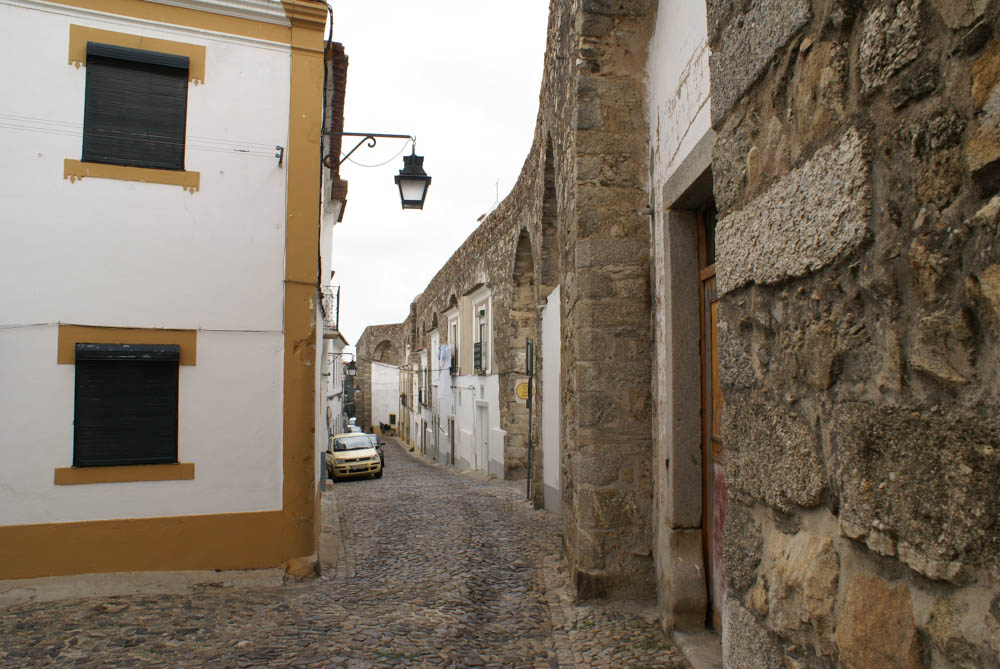 Narrow street in Evora