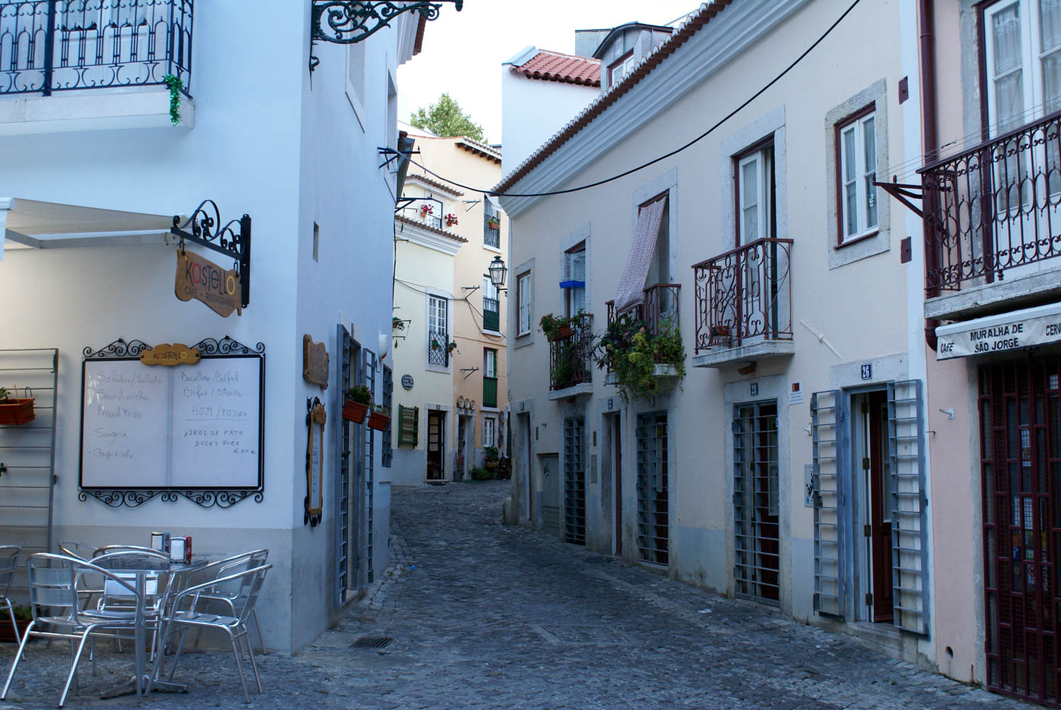 Narrow alleyways wind through the Alfama