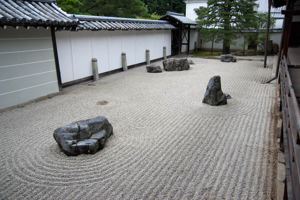 Zen dry garden in the Nanzen-ji temple complex
