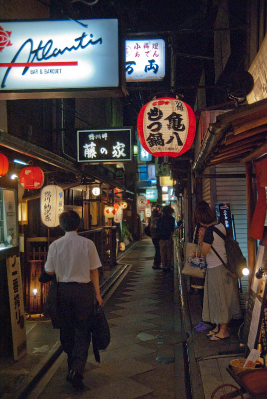 The famous little alley way Ponto Cho bustling with nightlife, cafes and bars