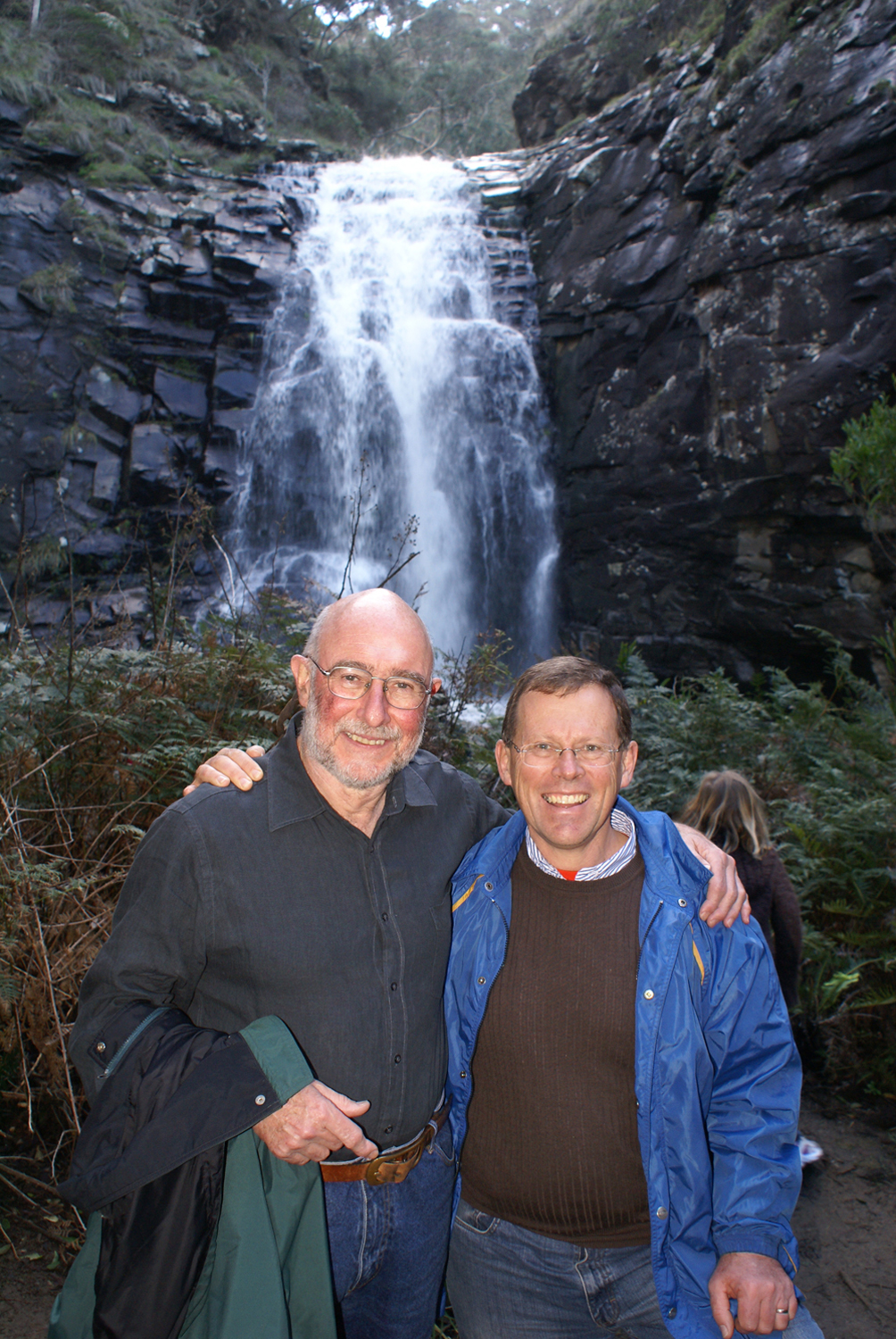 Dexter and Rob Shepherd at Sheoak Falls