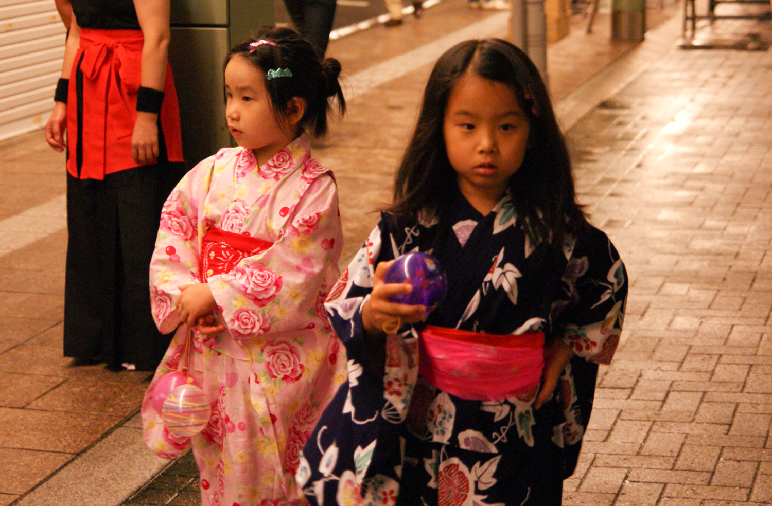 Young girls in kimonos