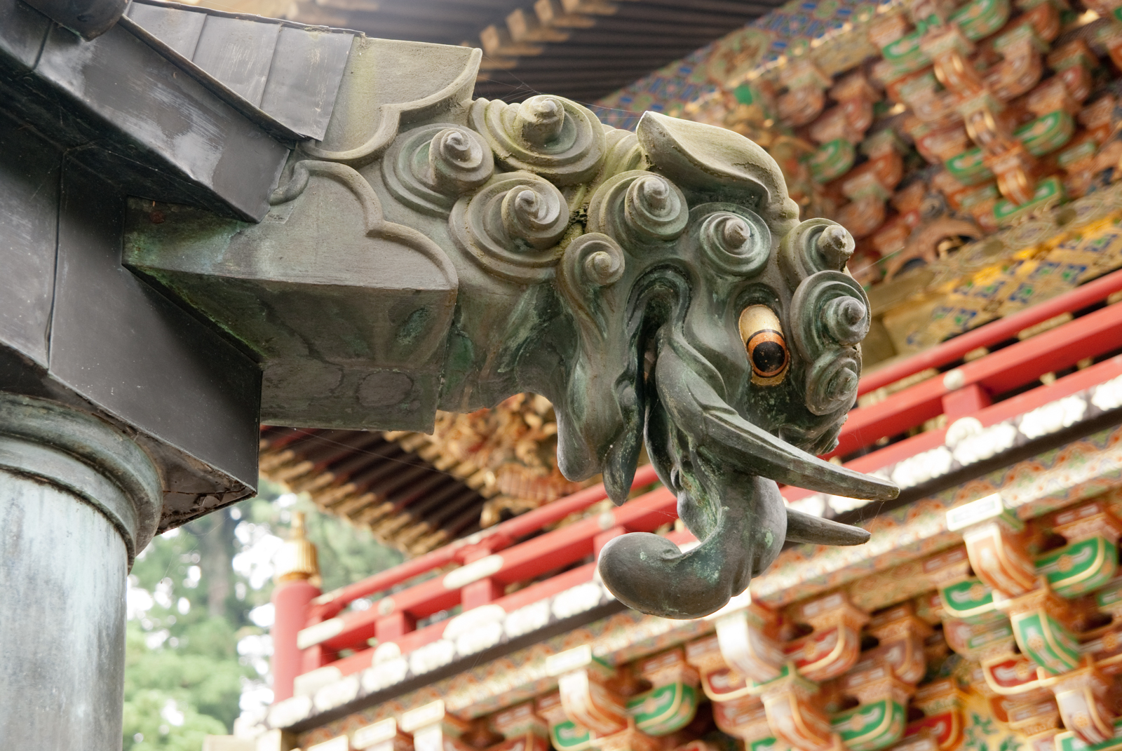 Gargoyle at the Toshogu shrine