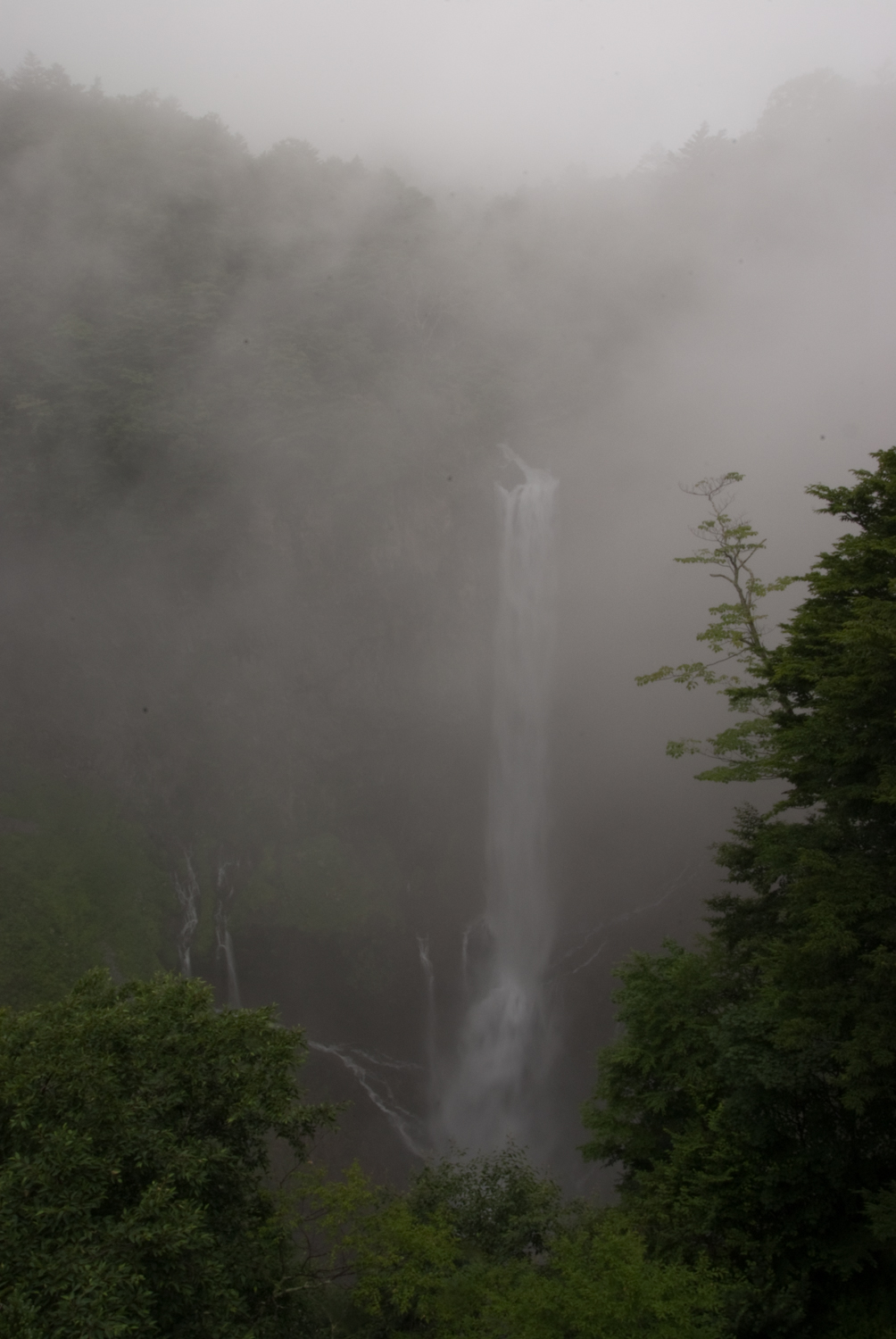 Kegon Falls in the fog