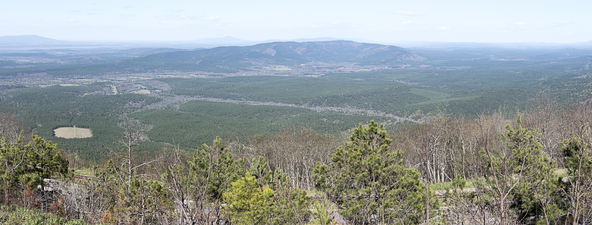 Viewpoint on the Talimena Scenic Drive