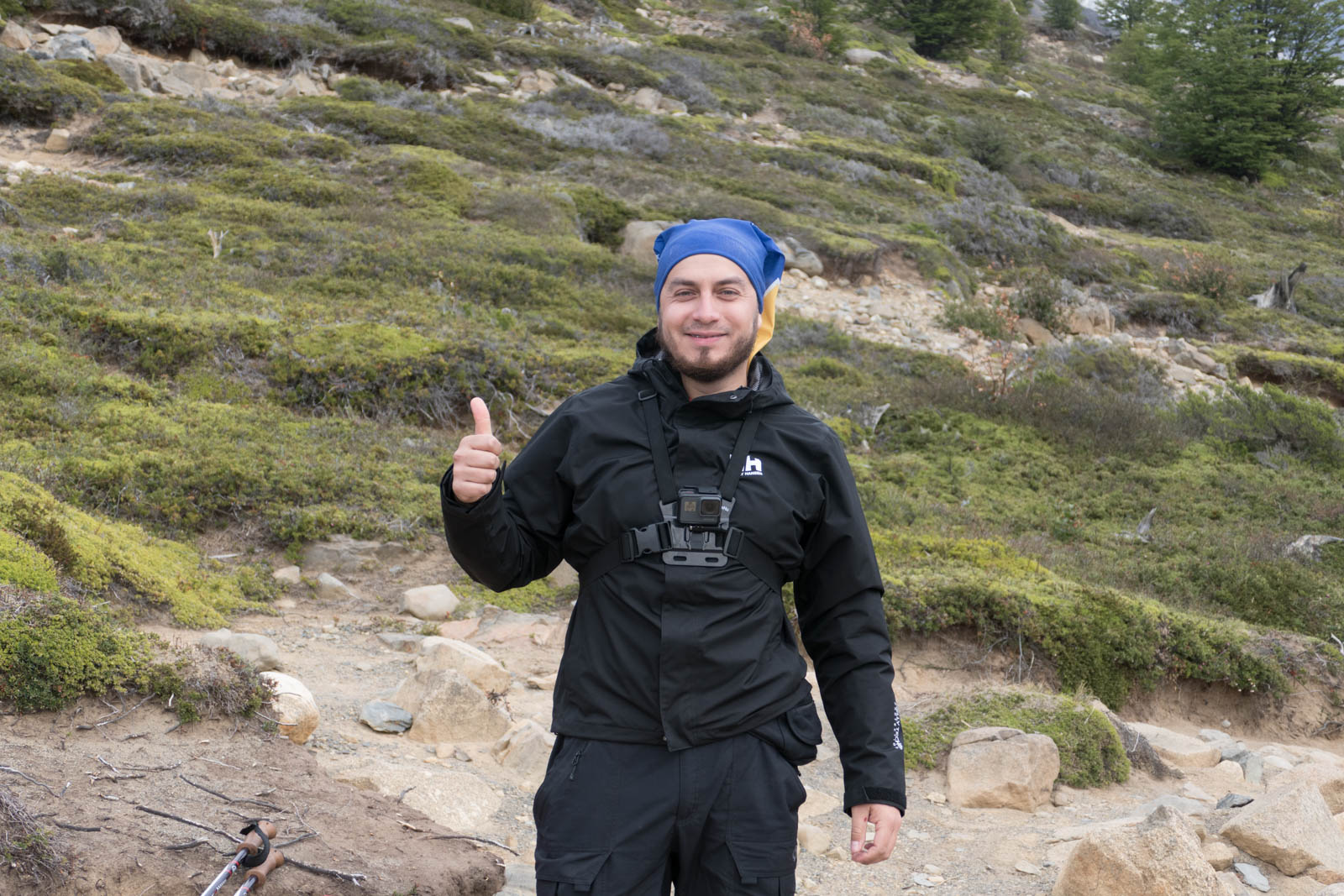 Friendly GoPro hiker