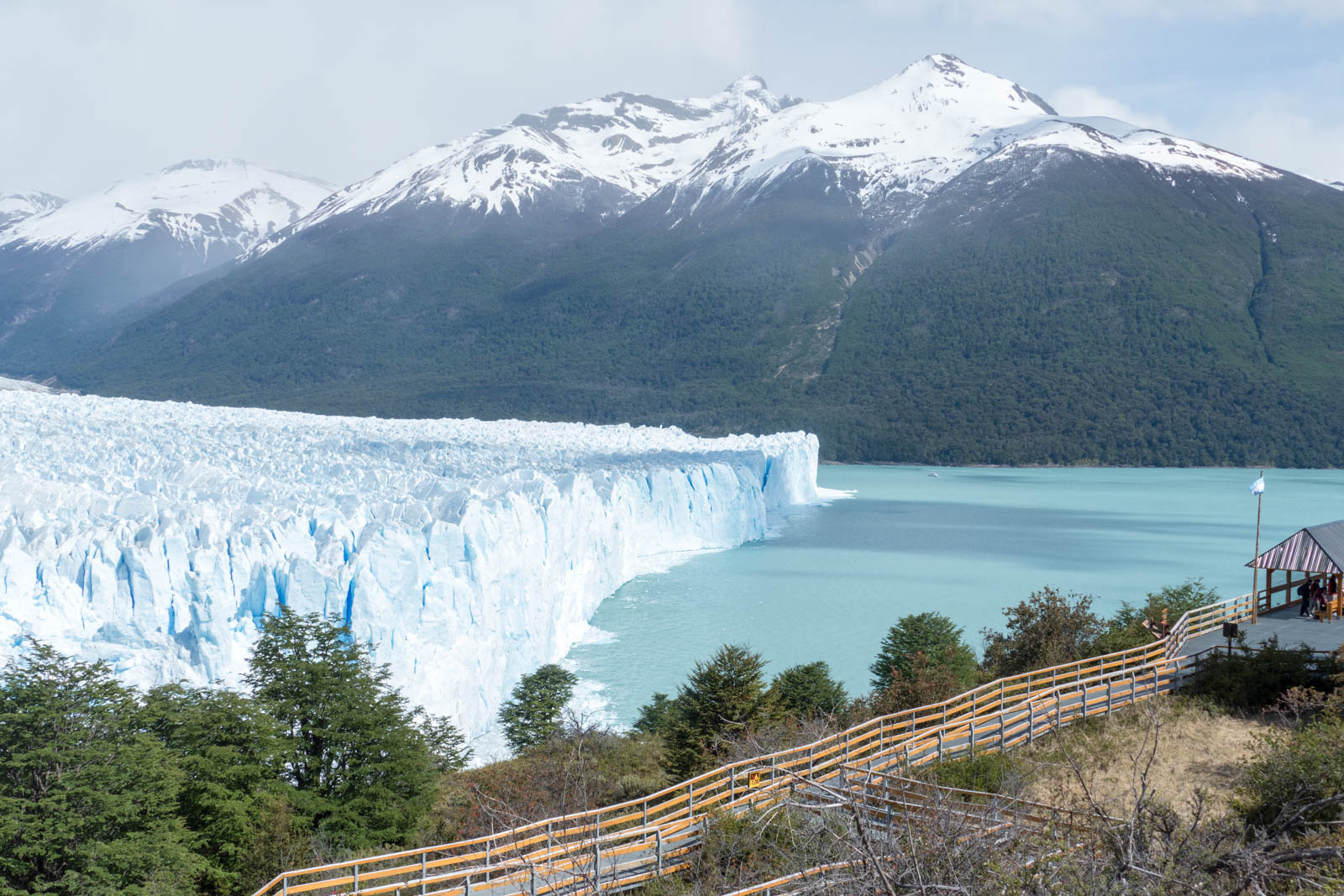 Glacier and observation walkway