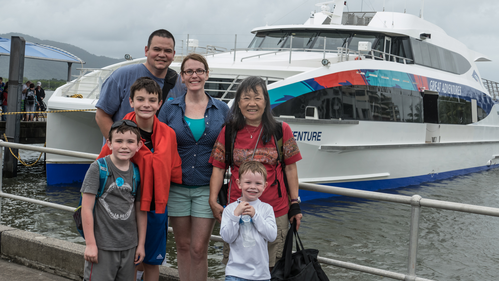 Following a family tradition, here we are posing in front of the wrong boat.