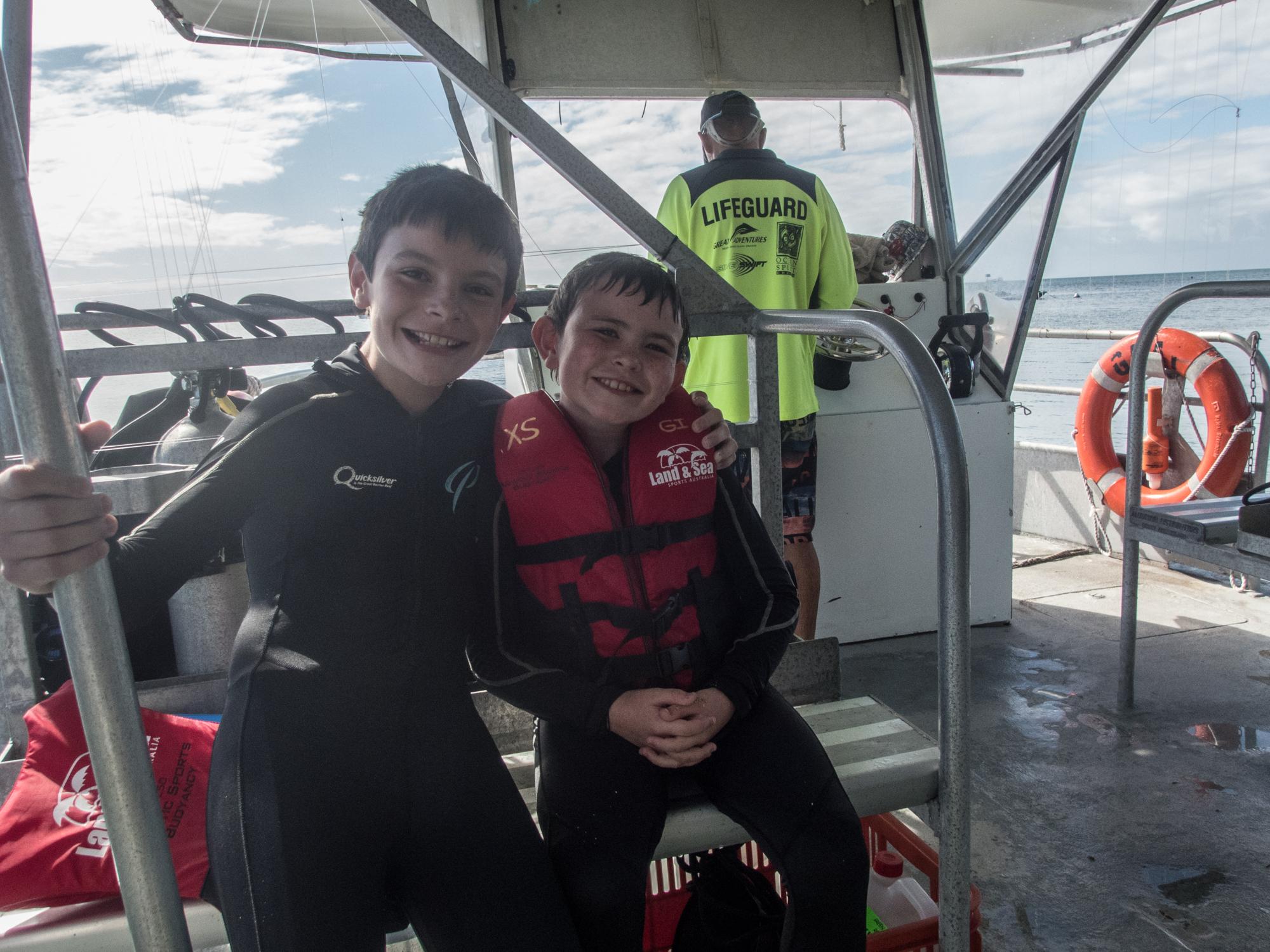 Snorkeling buddies