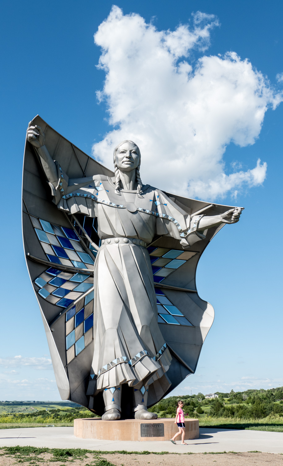 The Destiny statue that overlooks the Missouri River at the Lewis and Clark Interpretive Center in Chamberlain, SD