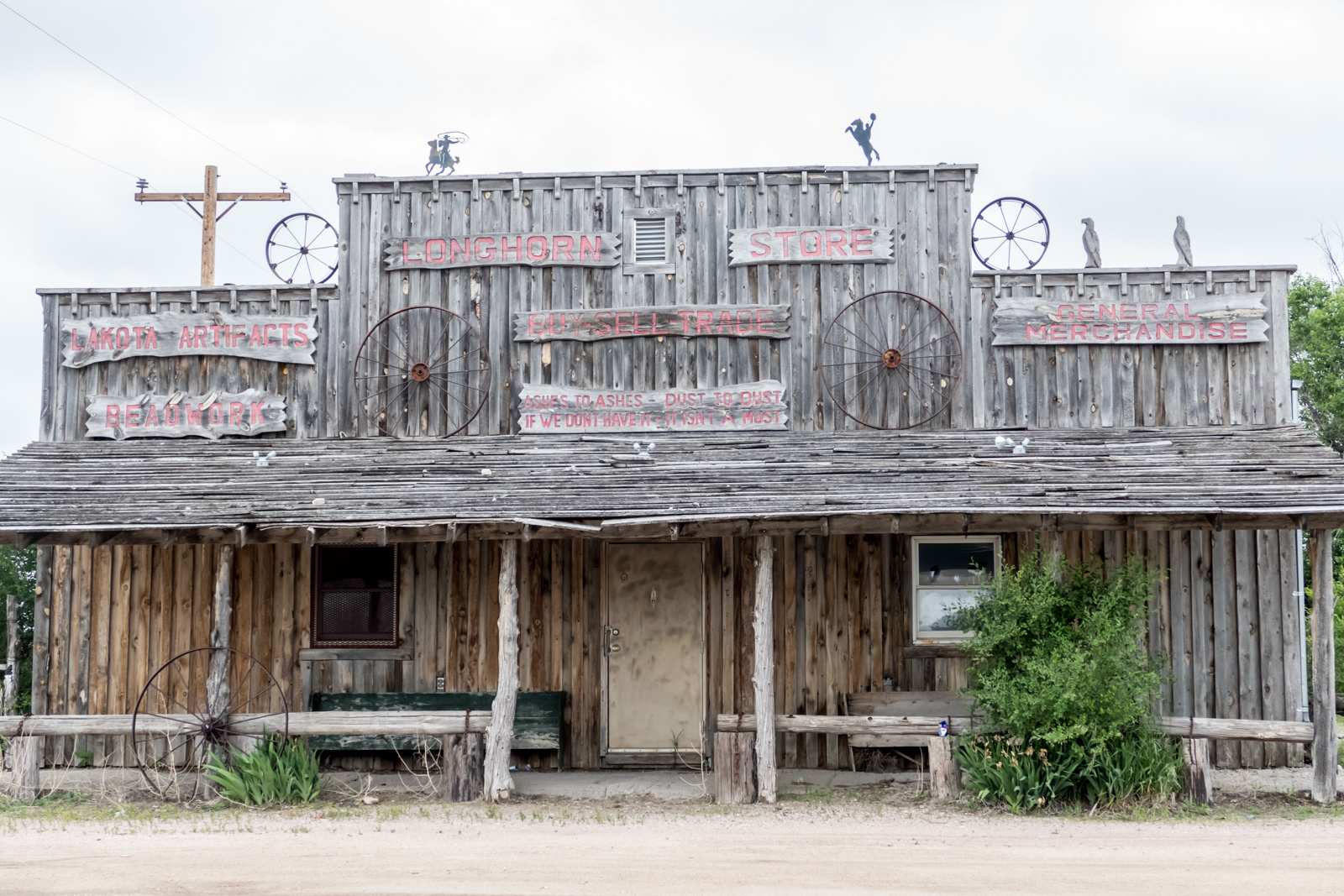 A tourist site in the 'town' of Scenic, SD