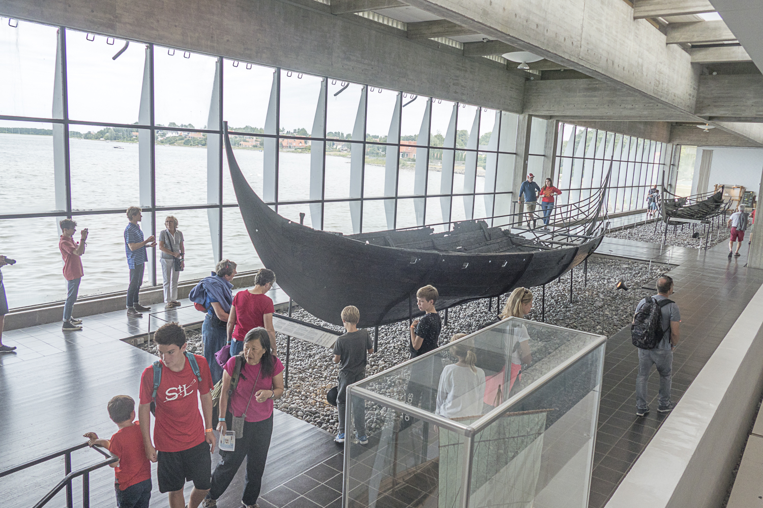 Inside the Viking Ship Museum.